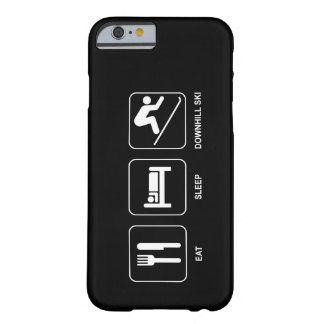 Eat Sleep Downhill Ski Barely There iPhone 6 Case