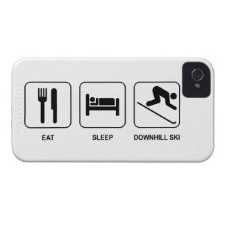 Eat Sleep Downhill Ski iPhone 4 Case
