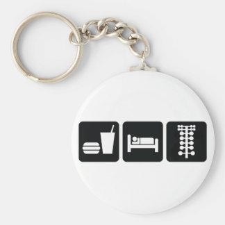 Eat Sleep Drag Race Keychain
