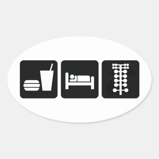 Eat Sleep Drag Race Oval Sticker