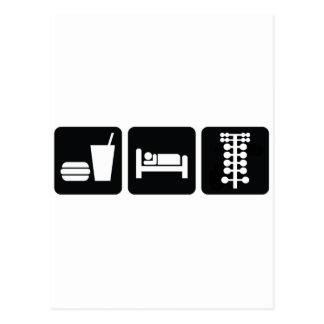 Eat Sleep Drag Race Postcard