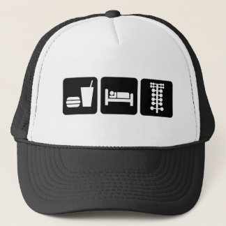 Eat Sleep Drag Race Trucker Hat