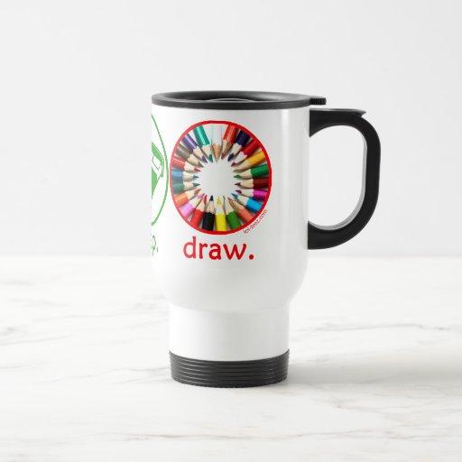 Eat Sleep Draw Mugs