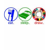 Eat Sleep Draw shirt