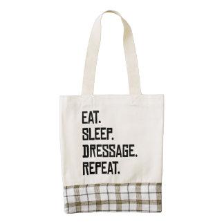 Eat Sleep Dressage Repeat Zazzle HEART Tote Bag