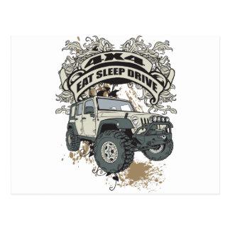 Eat, Sleep, Drive 4x4 Postcard