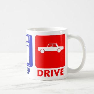 EAT SLEEP DRIVE CAR HOTEL COFFEE MUG