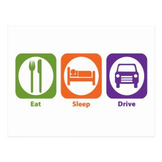 Eat Sleep Drive Postcard