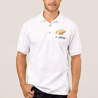 Eat sleep drive TVR Sagaris shirt, orange yellow Polo Shirt