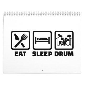 Eat Sleep drum Calendar