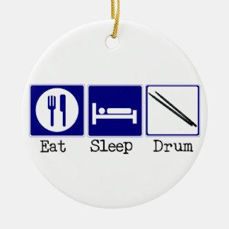 Eat, Sleep, Drum Ceramic Ornament