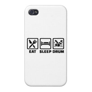 Eat Sleep drum Covers For iPhone 4