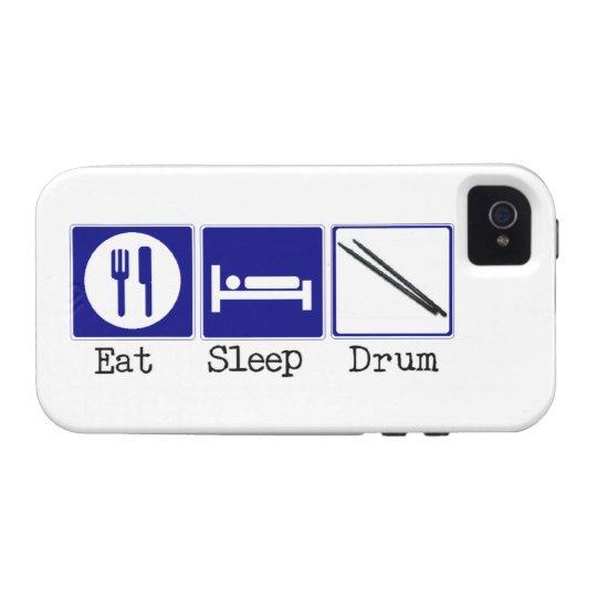Eat, Sleep, Drum iPhone 4 Case