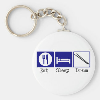 Eat, Sleep, Drum Keychain