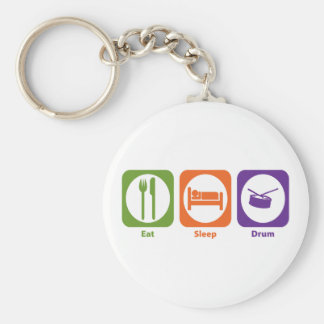 Eat Sleep Drum Keychain