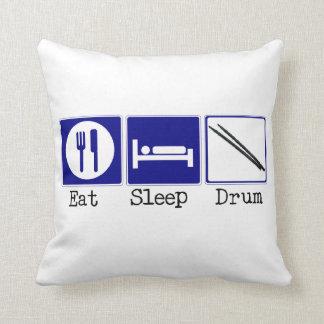 Eat, Sleep, Drum Throw Pillow