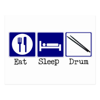 Eat, Sleep, Drum Postcard