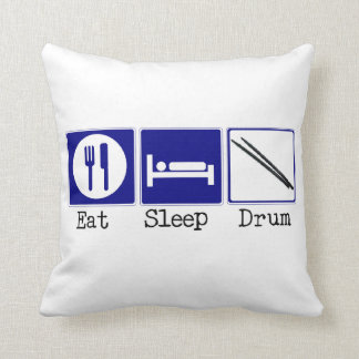 Eat, Sleep, Drum Throw Pillow