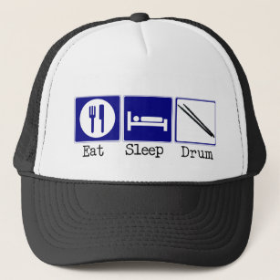 Eat Sleep Band Hats & Caps | Zazzle