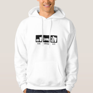 eat sleep eat some more hoodie