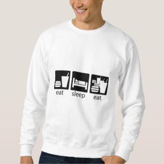 eat sleep eat some more sweatshirt