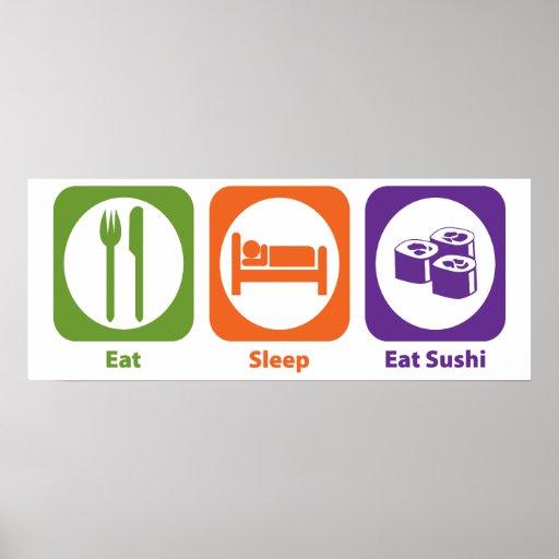Eat Sleep Eat Sushi Print