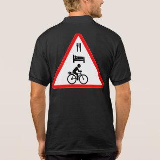 """Eat. Sleep. eBike"" cycling polo shirts for men"