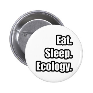 Eat. Sleep. Ecology. Pinback Button