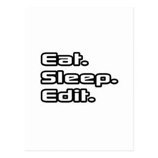 Eat. Sleep. Edit. Postcard