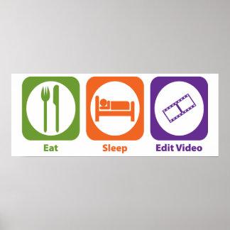 Eat Sleep Edit Video Poster