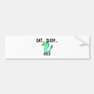 Eat Sleep EELS Bumper Stickers