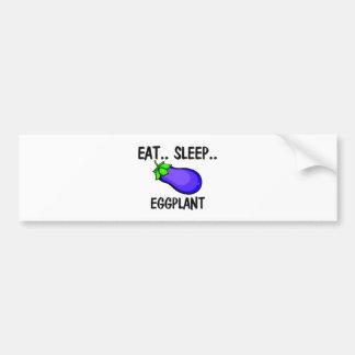 Eat Sleep EGGPLANT Car Bumper Sticker