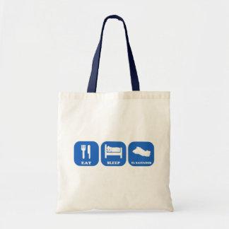 Eat Sleep El Salvador Budget Tote Bag