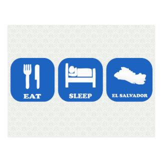 Eat Sleep El Salvador Postcard