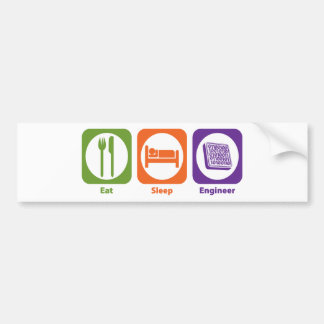 Eat Sleep Engineer Bumper Sticker