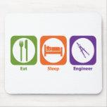 Eat Sleep Engineer Mouse Mat