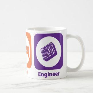 Eat Sleep Engineer Classic White Coffee Mug