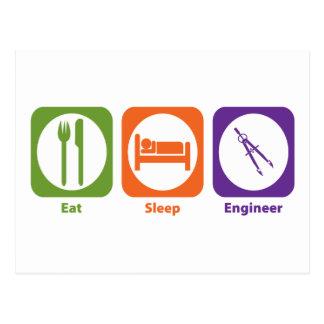 Eat Sleep Engineer Postcard