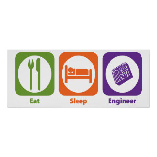 Eat Sleep Engineer Poster