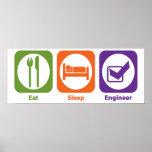 Eat Sleep Engineer Print