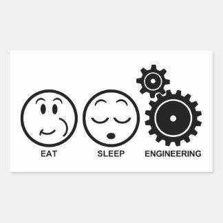 Eat Sleep Engineering Rectangular Sticker