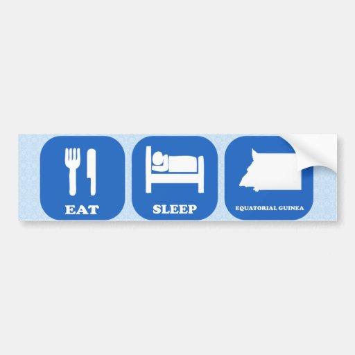 Eat Sleep Equatorial Guinea Bumper Sticker