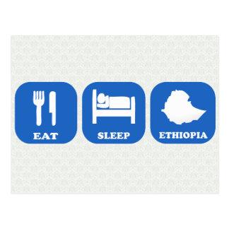 Eat Sleep Ethiopia Postcard