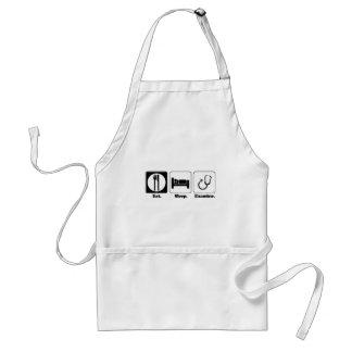 eat sleep examine doctor apron