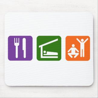Eat Sleep Exercise Mouse Pad