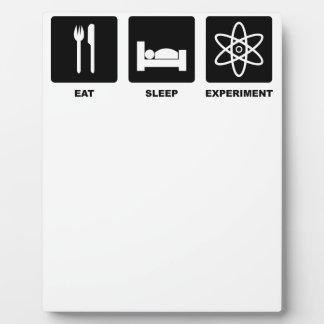 Eat Sleep Experiment Plaque