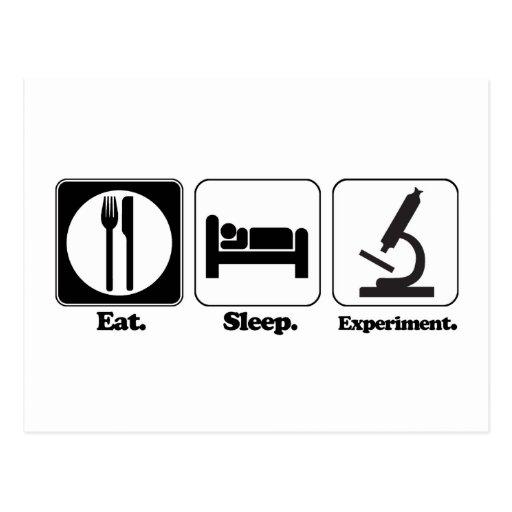 eat sleep experiment post card