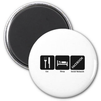 Eat sleep fackbook refrigerator magnet