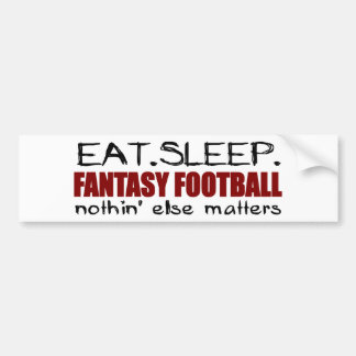 Eat Sleep Fantasy Football Bumper Sticker