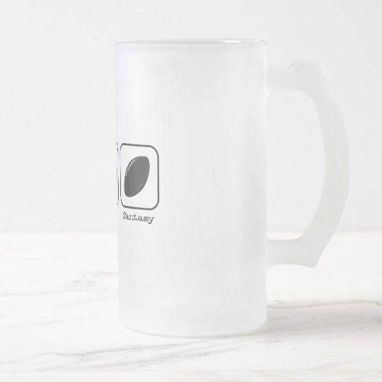 Eat Sleep Fantasy Football Frosted Glass Beer Mug